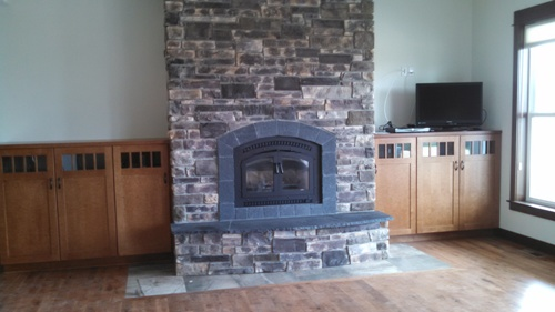 Custom Waterfront Home Project Part IV - Fireplace and Kitchen